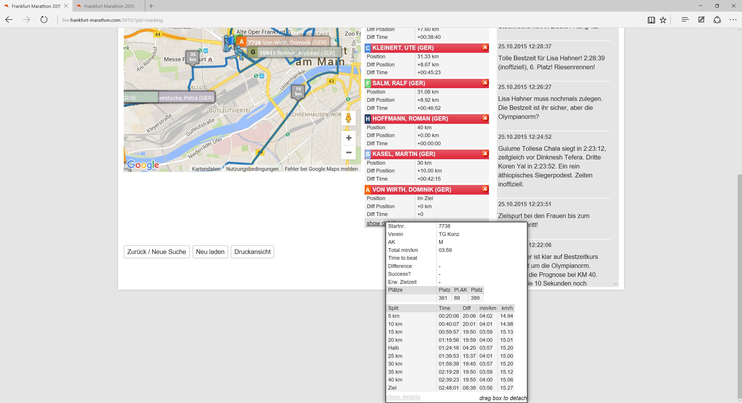 Lisa läuft auf Platz 6, aber verpasst Olympia um 9s in 2:28:39.