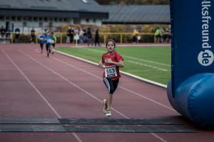 Maren Spang, Siegerin im 1000 Meter Römersprudel Kinderlauf: 3:49 (Fotograf: Boris Ruth)