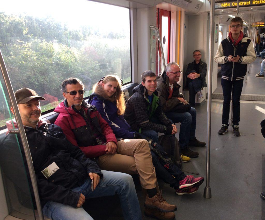 Gute Stimmung in der U-Bahn